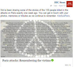 BBC News FB Paris victims