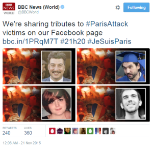 BBC News Twitter Paris victims 2