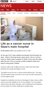 Gaza nurse report
