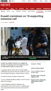 BBC removes the word 'terror' from follow-up report about Kuwait attacks