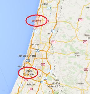 map Rishon