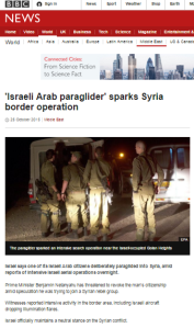 No BBC News follow-up on Golan paraglider story
