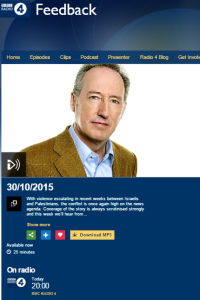 Kevin Connolly tells BBC Radio 4's 'Feedback' complaints rooted in narratives
