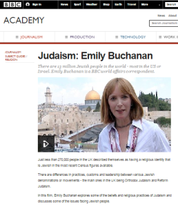 What does the BBC Academy teach the corporation's journalists about Judaism?