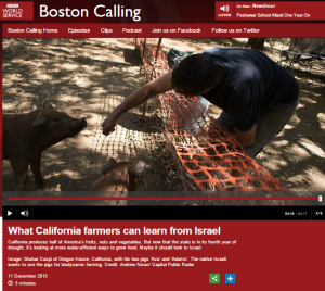 BBC WS behind the times on Israel – California water collaboration