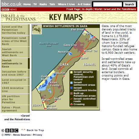 map Gaza Strip