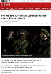 Omission and equivalence in BBC News report on rockets from Lebanon