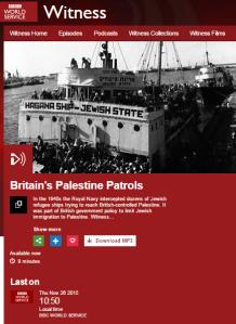 BBC World Service misleads on Jewish immigration to Mandate Palestine