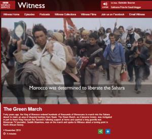 Witness W Sahara filmed