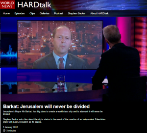 BBC Hardtalk host tells viewers Temple Mount is 'the holiest of places for Muslims'
