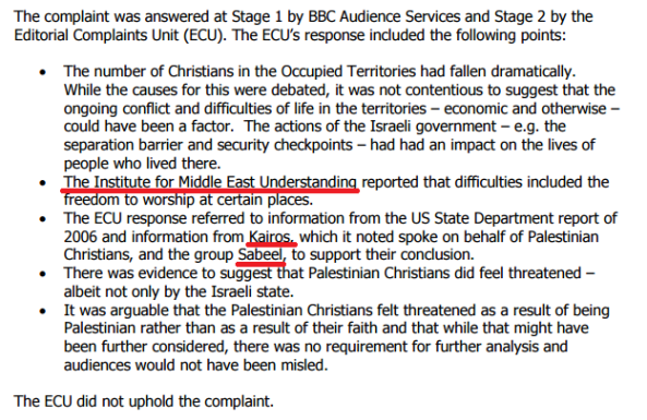 BBC bases rejection of complaint on word of anti-Israel NGOs