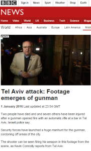 BBC's Kevin Connolly promotes irrelevant speculation on Tel Aviv shootings