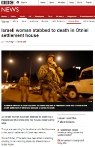 Reviewing BBC News website portrayal of Israel and the Palestinians in Q1 2016 – part one