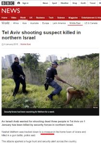 Inaccuracies in BBC News reports on Tel Aviv gunman