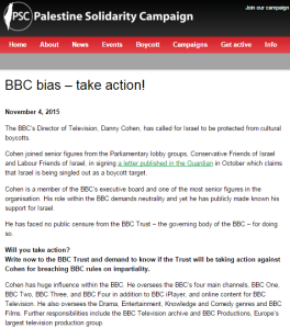 BBC takes lessons on 'impartiality' from the Palestine Solidarity Campaign