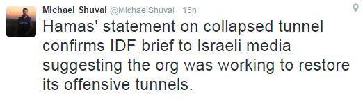 Shuval tweet tunnels 2