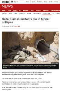 BBC News sidesteps the real issues in Hamas tunnel collapse story