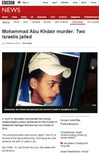 Abu Khdeir sentencing art