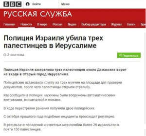 BBC Russian mangles headline on Jerusalem terror attack