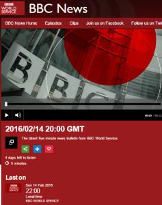 BBC WS news 14 2