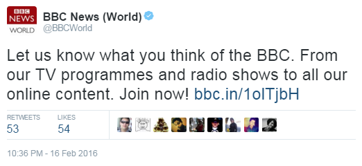 The BBC wants your feedback