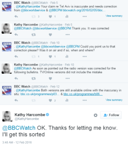 The continuing saga of the BBC's failure to make a simple correction