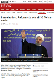BBC News frames Iranian elections as victory for 'reformists and moderates'