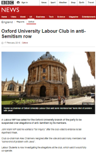 BBC News website buries Oxford University Labour Club story