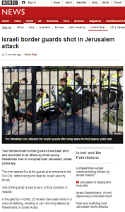 BBC News reports Jerusalem terror attack with politicised description of location