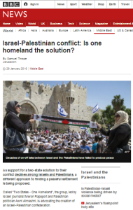 BBC News promotes 'one-state' stepping stone and political messaging