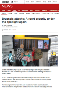 Brussels airport security art