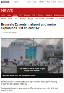BBC News website flip-flops on description of Brussels attacks as terrorism – part one