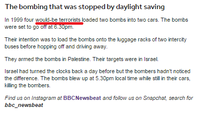 BBC's 'Newsbeat' discovers terrorists in Israel