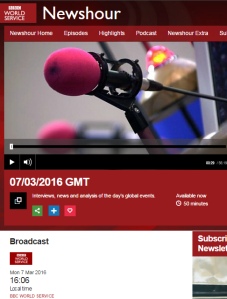 Another 'dark Israel' story from BBC World Service's 'Newshour'