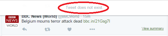 Tweet BBC News deleted 2