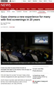 BBC's Bachega drags Israel into a report on Gaza cinema