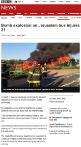 BBC News reports Jerusalem bus bomb without using the word terror