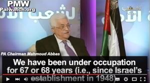 PMW Abbas occupation