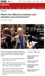 BBC current affairs revisits antisemitism and anti-Zionism – part one