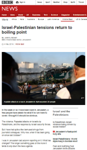 BBC's Bowen does maintenance on his framing of a Middle East story