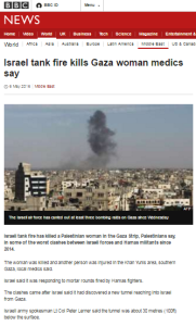 Patchy and selective BBC News reporting of Gaza border incidents