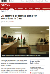 BBC News' confused messaging on Gaza Strip executions