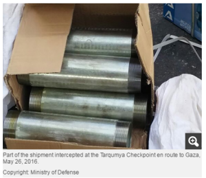 pipes smuggling Gaza
