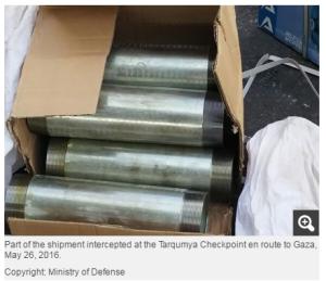 pipes smuggling Gaza