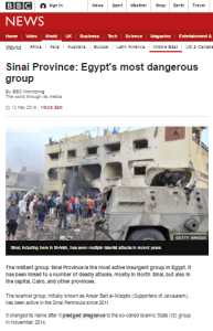 Inaccuracies in BBC backgrounder on Sinai terrorists