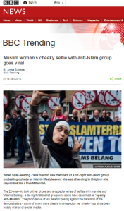 BBC Trending ignores antisemitic Tweets from featured selfie snapper