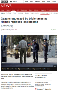 Figures missing from BBC's June article on Gaza economy emerge