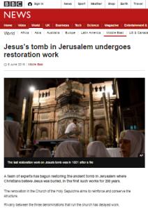 Holy Sepulchre restoration