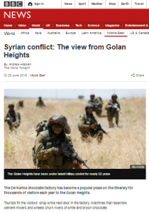 BBC News website recycles previous Golan Heights inaccuracies
