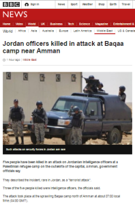 BBC uses coverage of attack in Jordan to promote politicised messaging